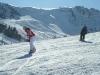 Übung beim Snowboardkurs mit Lehrerin Nina