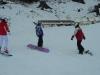 Ramona (re) und ich (li) in der Snowboardschule
