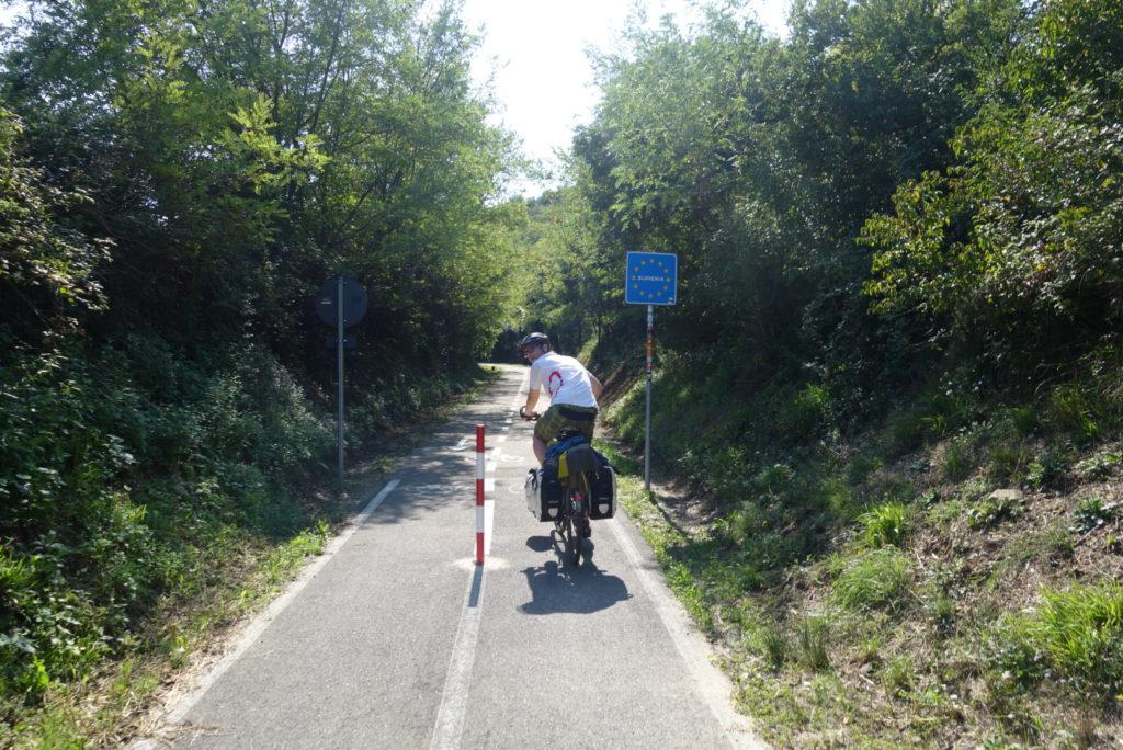 Grenze von Italien zu Slowenien